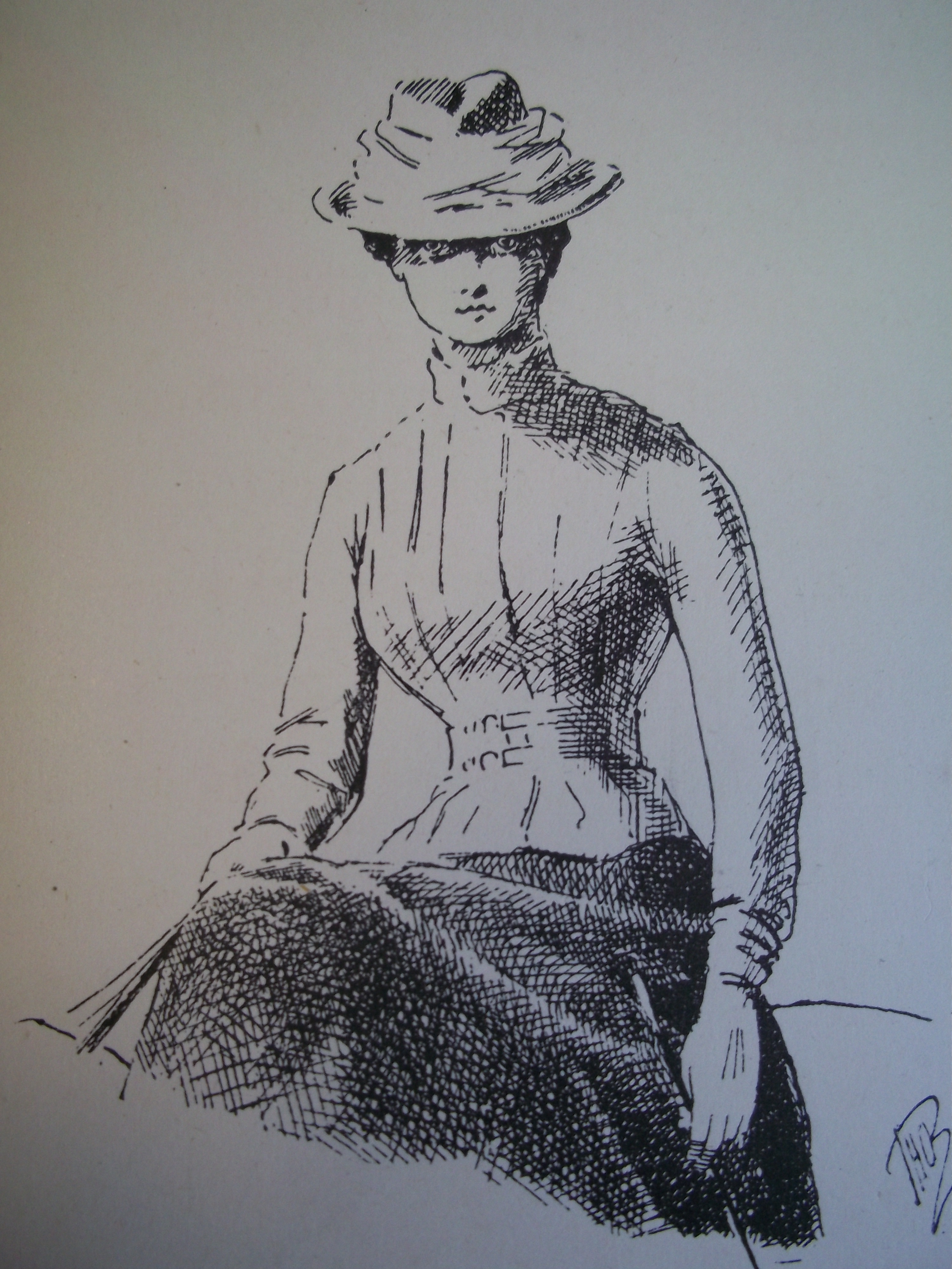 Terai hat and Norfolk jacket, The Horsewoman by Mrs. Hayes (1892)