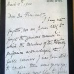 Fleming's Letter 10th March 1900