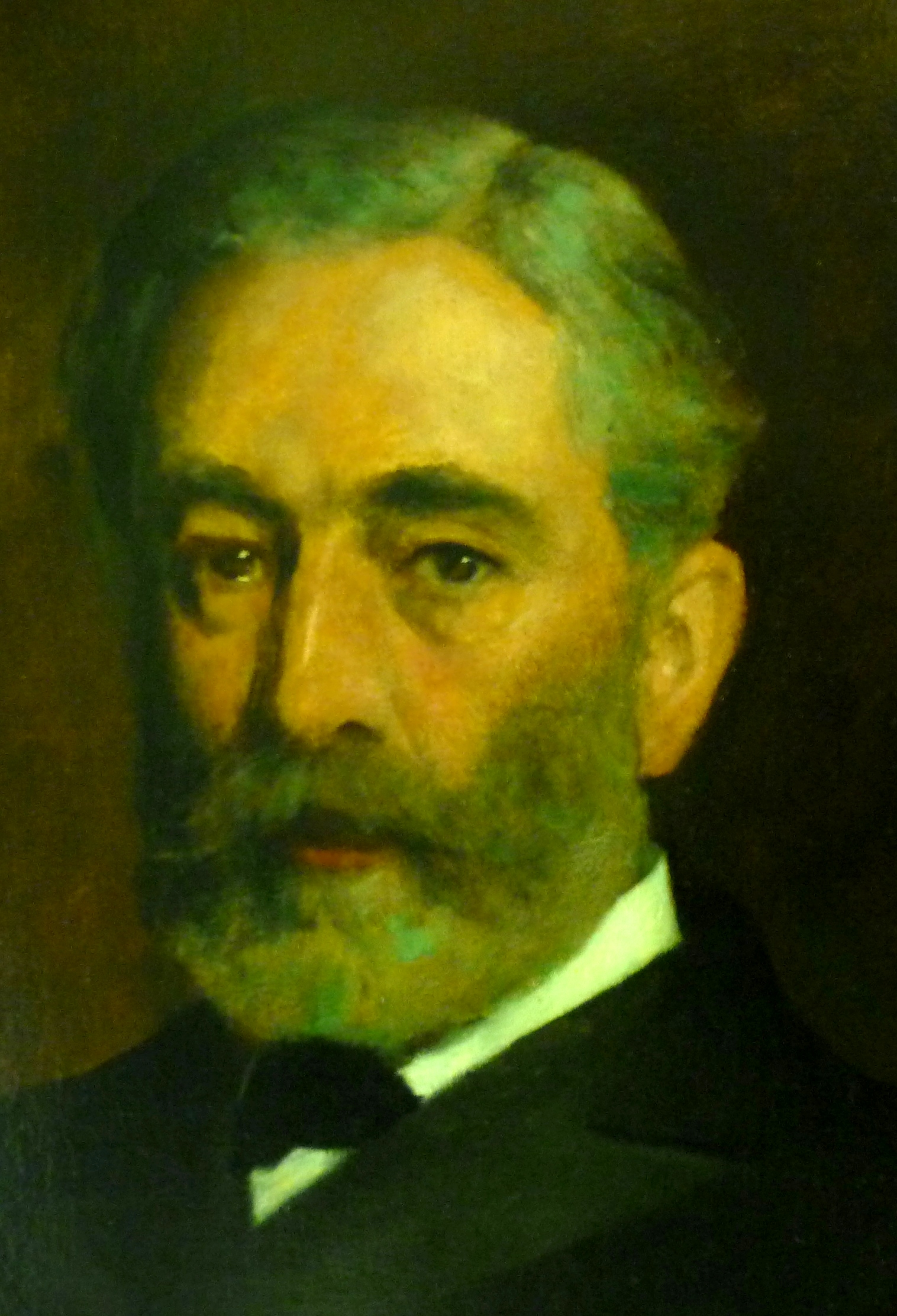 Close up from portrait of William Hunting