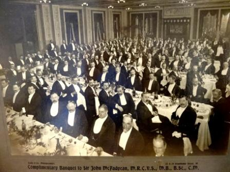 R. Hughes at the RCVS Banquet 1906