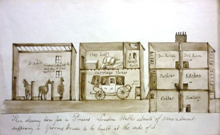 Plan showing how a stable can have a grooms house attached alongside