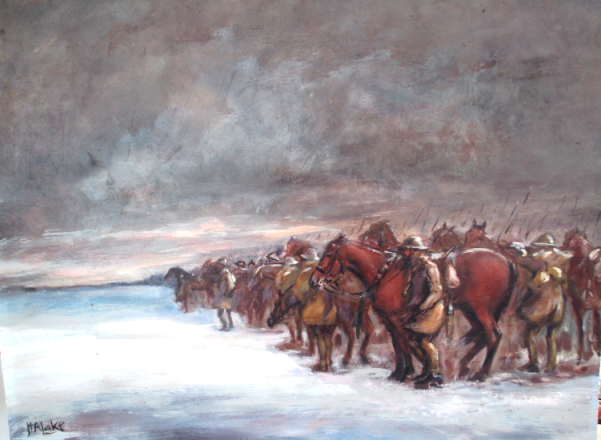 Cavalry before Arras by Herbert Lake