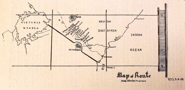 Stordy's map of the route dated 2 August 1898