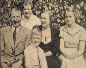 Charles Head with wife and family in1953